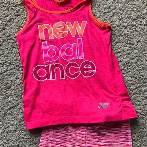 New Balance girls 3T matching set